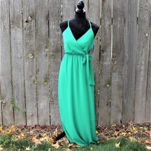 DREAM OF ME MAXI GREEN DRESS NEW SMALL
